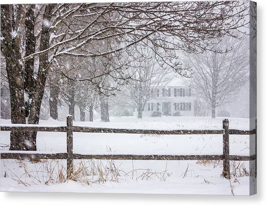 Snowy New England Canvas Print
