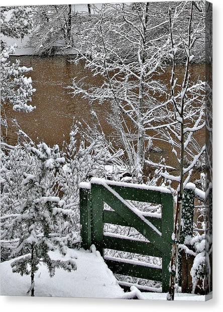 Snowy River Gate Canvas Print