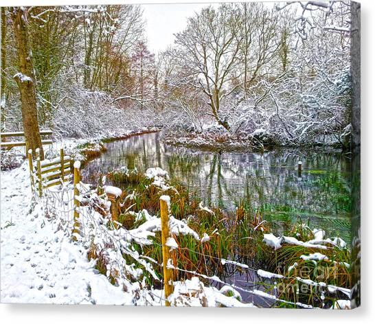 Snowy Rookwood Canvas Print