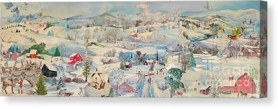 Snowy Village - Sold Canvas Print