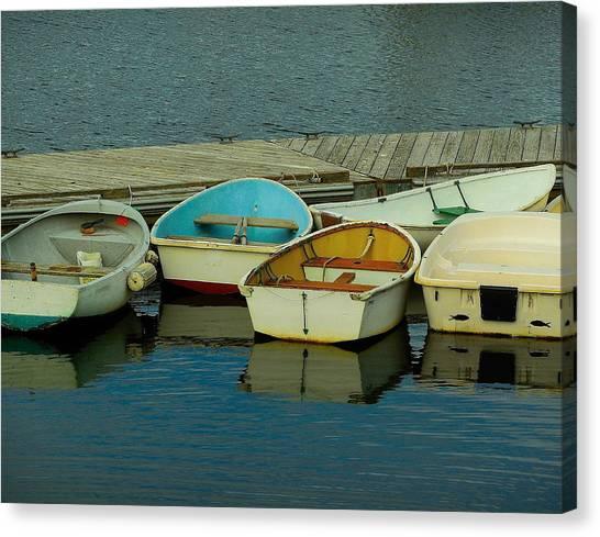 Snuggle Boats Canvas Print