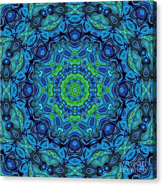 So Blue - 43 - Mandala Canvas Print