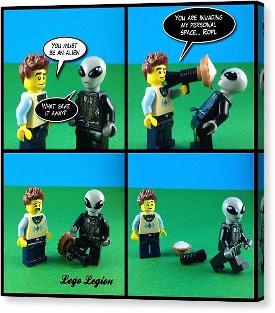 The Legion Canvas Print - So Do I Tag This #badjokewars Or by Lego Legion