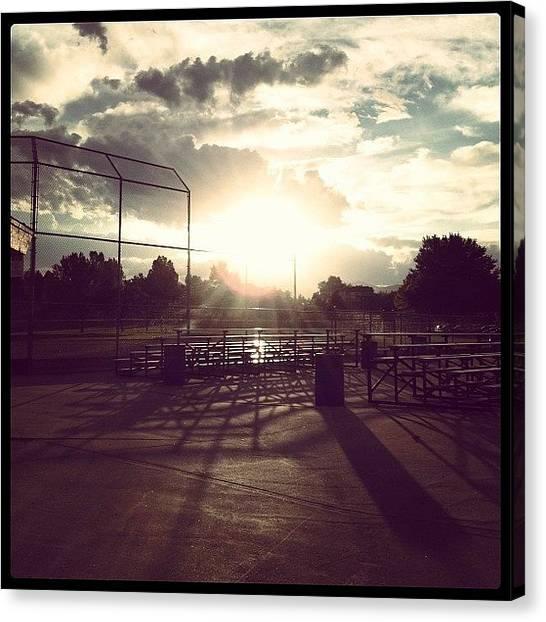 Softball Canvas Print - Softball Life by Janae Cordova