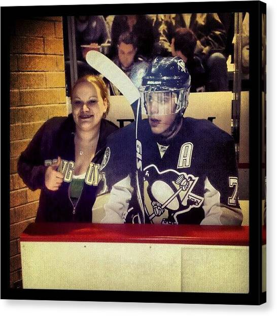 Penguins Canvas Print - So Happy Geno Is Back :) #pittsburgh by Ashley Watson