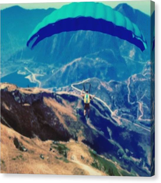 Xbox Canvas Print - So I Got There, Found A Parachute by Ady Griggs