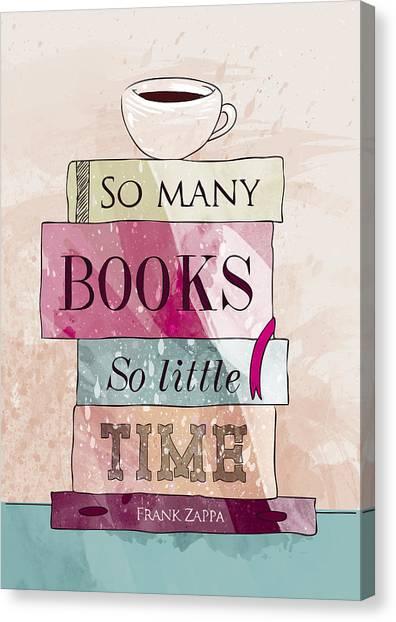 Books Canvas Print - So Many Books by Randoms Print