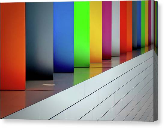 Rainbow Canvas Print - So Much Colour by Jeroen Van De