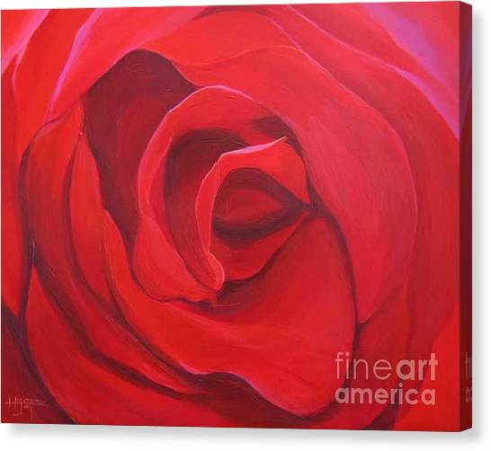 So Red The Rose Canvas Print
