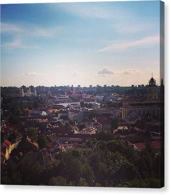 Japanese Canvas Print - So #sunny Old Town Of #vilnius by Ryoji Japan