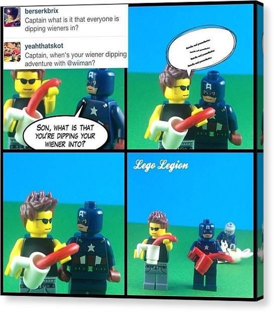 The Legion Canvas Print - So The First #askthecaptain Question by Lego Legion