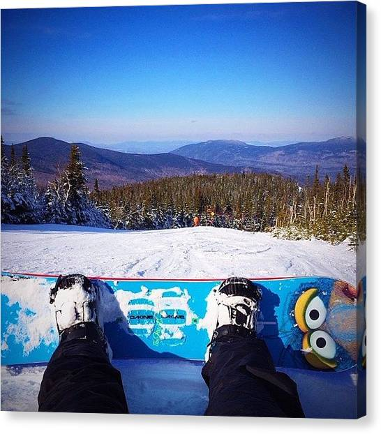 Snowboarding Canvas Print - 🏂so What If I Spent Most Of The Time by Rod San Martin
