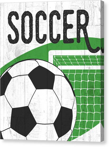 Soccer Canvas Print - Soccer by Aubree Perrenoud