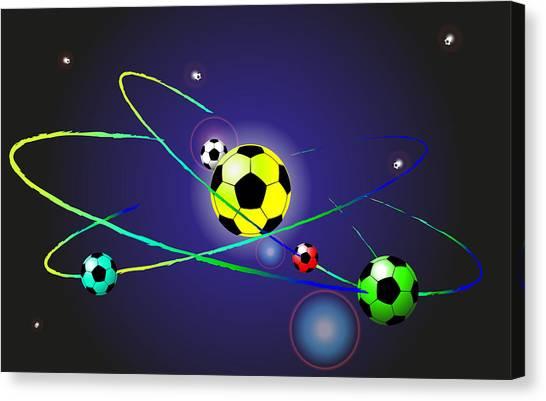 Soccer Ball Canvas Print by Volodymyr Horbovyy