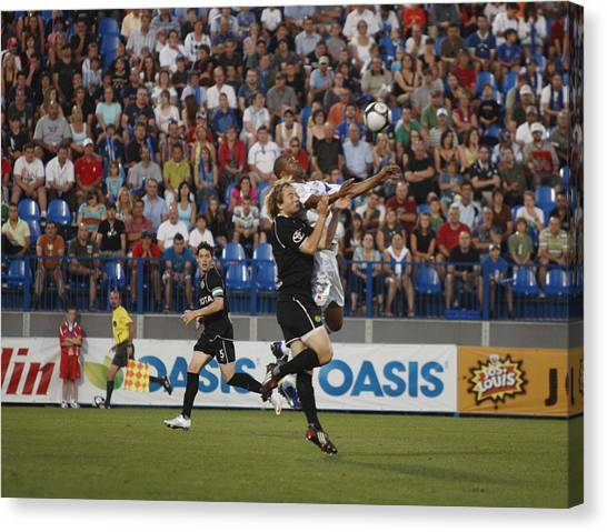 Montreal Impact Canvas Print - Soccer by Pierre Roussel