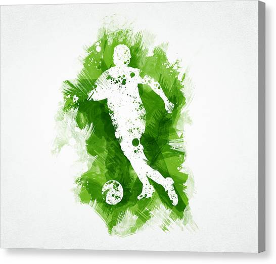 Soccer Teams Canvas Print - Soccer Player by Aged Pixel