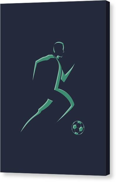 Soccer Teams Canvas Print - Soccer Player1 by Joe Hamilton