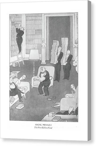 Social Menaces  The First-edition Fiend Canvas Print