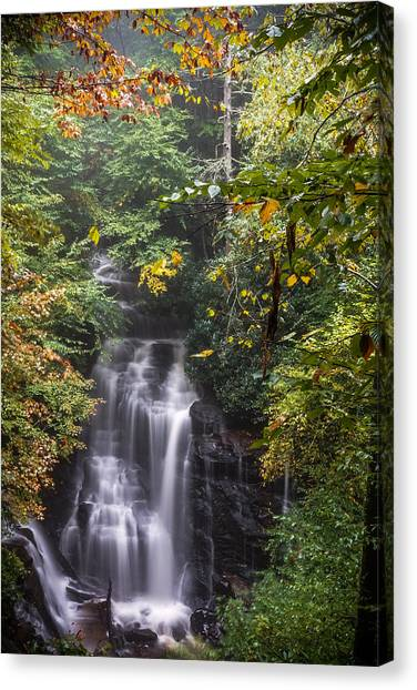 Canvas Print featuring the photograph Soco Falls by Francis Trudeau
