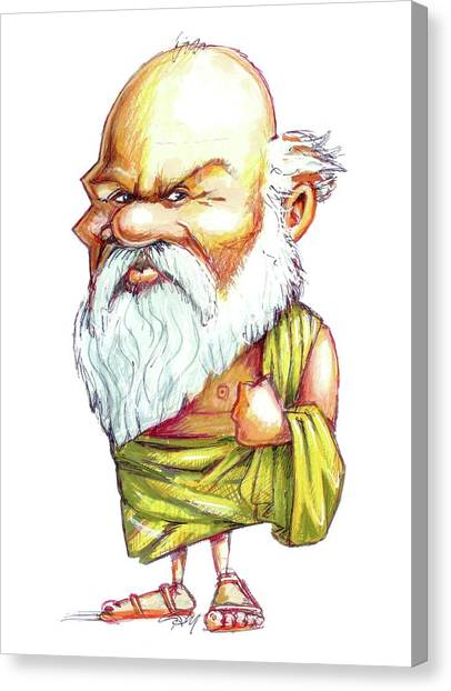Critical Canvas Print - Socrates by Gary Brown