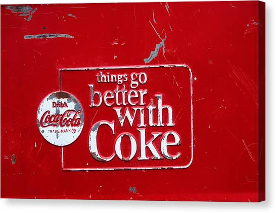 Coca Cola Canvas Print - Soda Of Choice by Toni Hopper