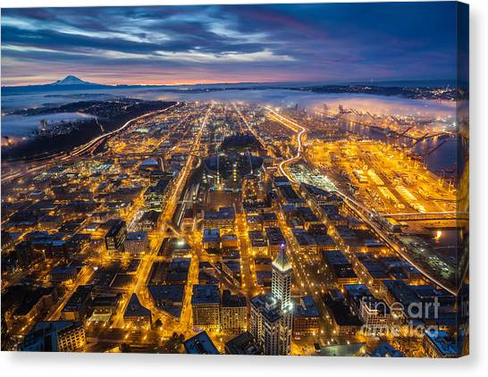 The Nature Center Canvas Print - Sodo Sunrise by Mike Reid