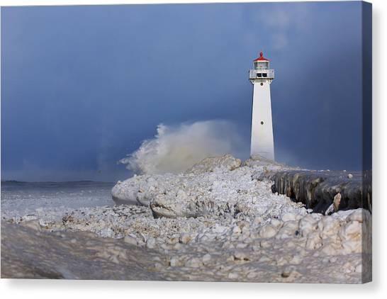 Lighthouse Canvas Print - Sodus Bay Lighthouse by Everet Regal