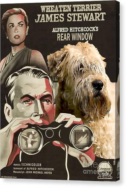 Soft-coated Wheaten Terrier  - Wheaten Terrier Art Canvas Print - Rear Window Movie Poster Canvas Print