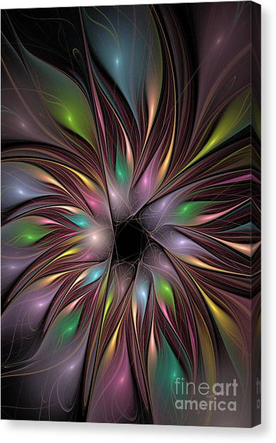 Apophysis Canvas Print - Soft Colors Of The Rainbow by Deborah Benoit