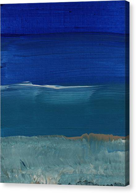 Abstract Designs Canvas Print - Soft Crashing Waves- Abstract Landscape by Linda Woods