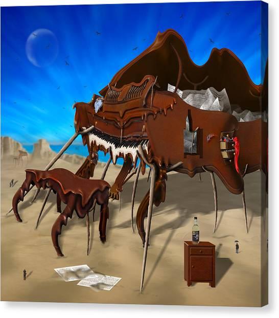 Imaginative Canvas Print - Soft Grand Piano Se 2 by Mike McGlothlen