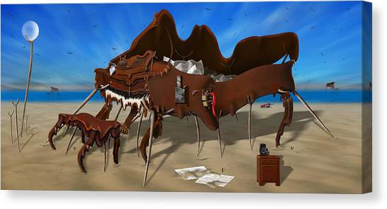 Buzzards Canvas Print - Soft Grand Piano With Camera - Panoramic by Mike McGlothlen