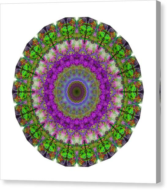Om Canvas Print - Soft Light - Kaleidoscope Mandala By Sharon Cummings by Sharon Cummings