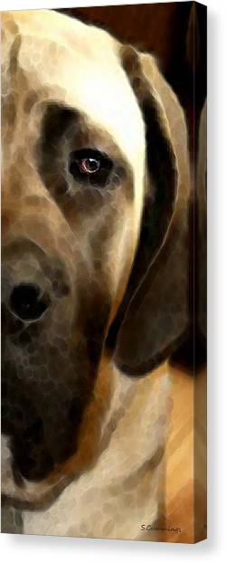 Mastiffs Canvas Print - Soft Love - Mastiff Dog Art By Sharon Cummings by Sharon Cummings