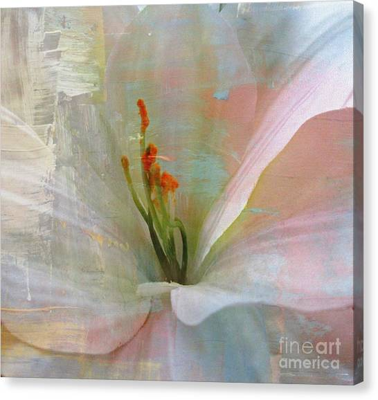 Soft Painted Lily Canvas Print