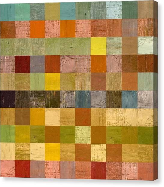 Soft Palette Rustic Wood Series Ll Canvas Print