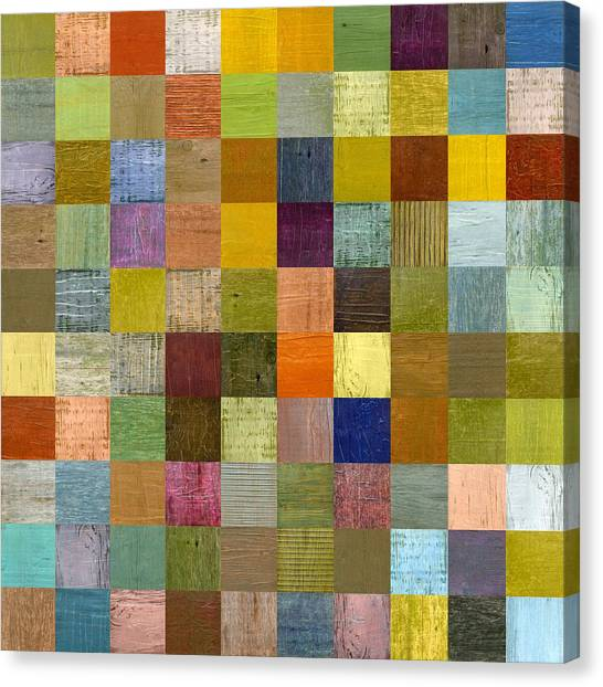 Soft Palette Rustic Wood Series With Stripes Lll Canvas Print