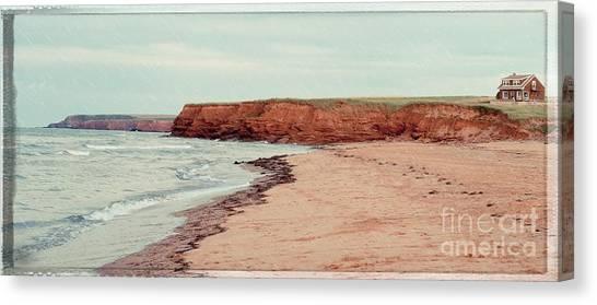 Prince Edward Island Canvas Print - Soft Rain On The Beach by Edward Fielding
