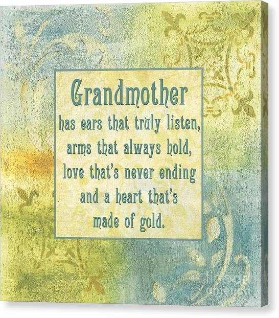 Grandma Canvas Print - Soft Spa Mother's Day 2 by Debbie DeWitt