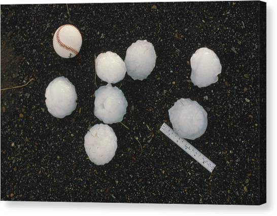 Hailstorms Canvas Print - Softball Sized Hailstones by Howard Bluestein
