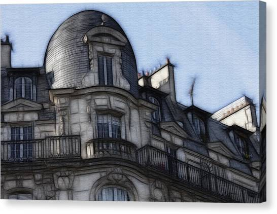 Softer Side Of Paris Architecture Canvas Print