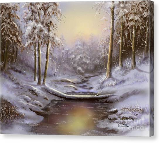 Softly Falling Canvas Print