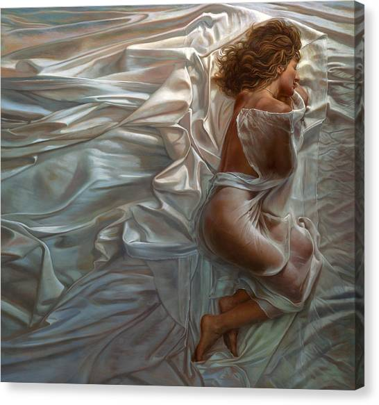 Conceptual Art Canvas Print - Sogni Dolci by Mia Tavonatti
