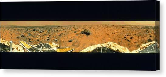 Yogi Canvas Print - Sojourner Robotic Vehicle Samples Mars Yogi Rock by Nasa/science Photo Library
