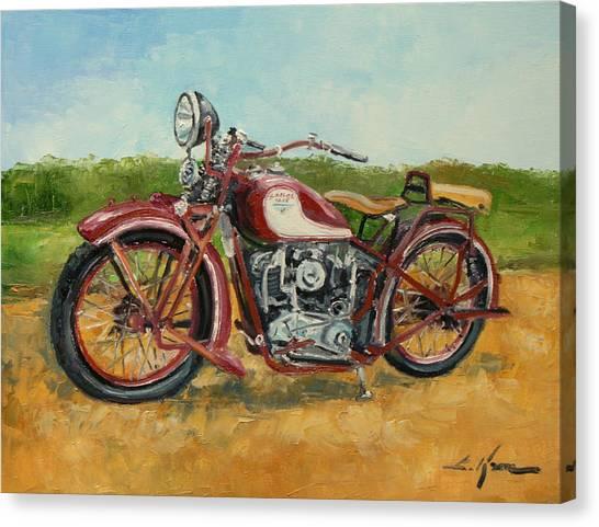 Sokol 1000 - Polish Motorcycle Canvas Print