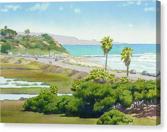 Tree Canvas Print - Solana Beach California by Mary Helmreich