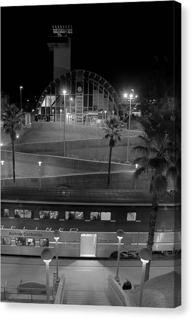 Solana Beach Train Station Canvas Print
