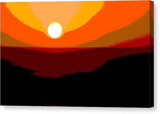 Solar Abstract Canvas Print