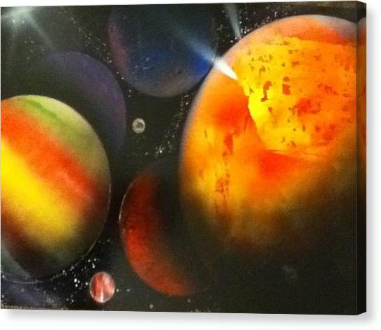 Solar Canvas Print by Angel Griffin