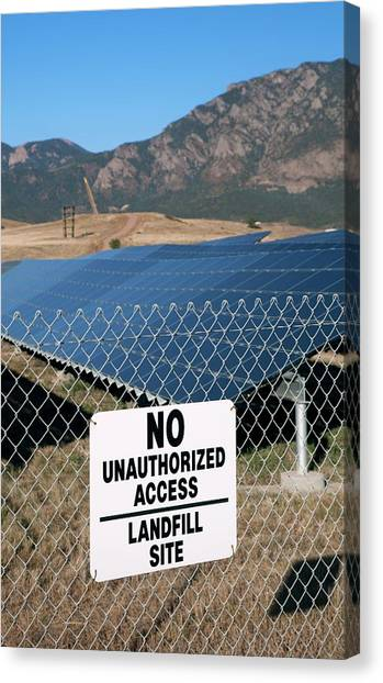 Solar Farms Canvas Print - Solar Array On Landfill Site by Jim West